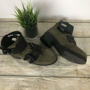 Kurt Geiger Olive/multi Leather Suede Ankle Boots